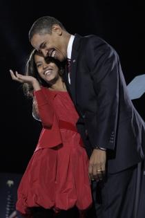 La foto más mediática de Malia y Barak Obama