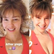 Thalía y su foto sin maquillar