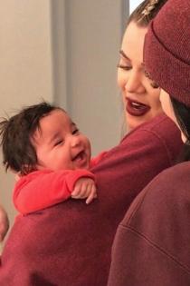 Dream, el bebé de Rob Kardashian encantado con su tía Khloé