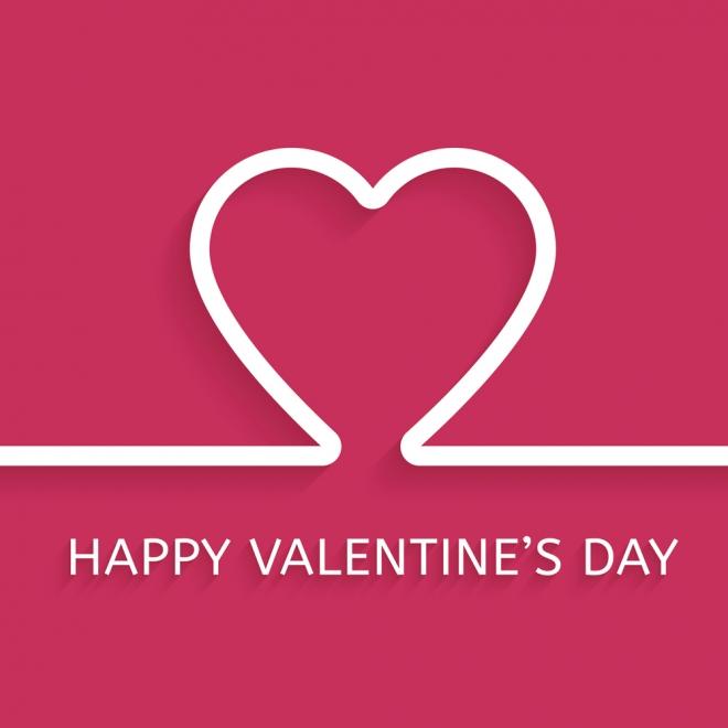 La tarjeta más sencilla en inglés para San Valentín