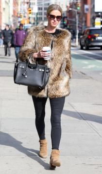 Nicky Hilton, apasionada de los abrigos de piel