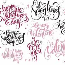 Una tarjeta con mucho amor en San Valentín