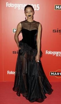 Berta Vázquez, look total black