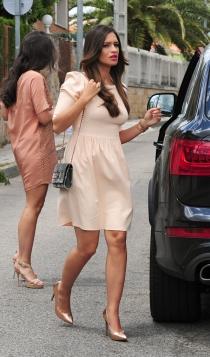 El vestido color crema de Sara Carbonero