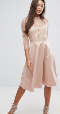 Los vestidos nude, ideales para bodas de mañana