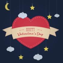 Tarjetas de corazón de San Valentín