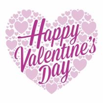 Feliz San Valentín y los corazones en las bonitas tarjetas