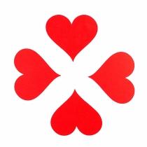 Tarjetas simples de corazón de San Valentín