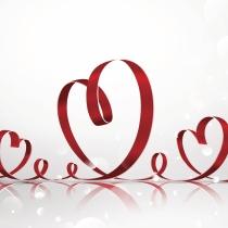 Tarjetas originales de San Valentín con corazones