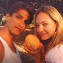 Candice Swanepoel y su chico, un feliz San Valentín