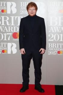 Brit 2017: Ed Sheeran, en la alfombra roja