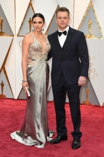 Parejas de los Oscars 2017: Matt Damon y su mujer