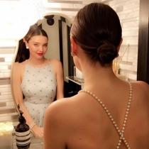 Oscars 2017 en Instagram: Miranda Kerr, plenos preparativos