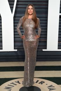 El vestido metalizado de Sofía Vergara