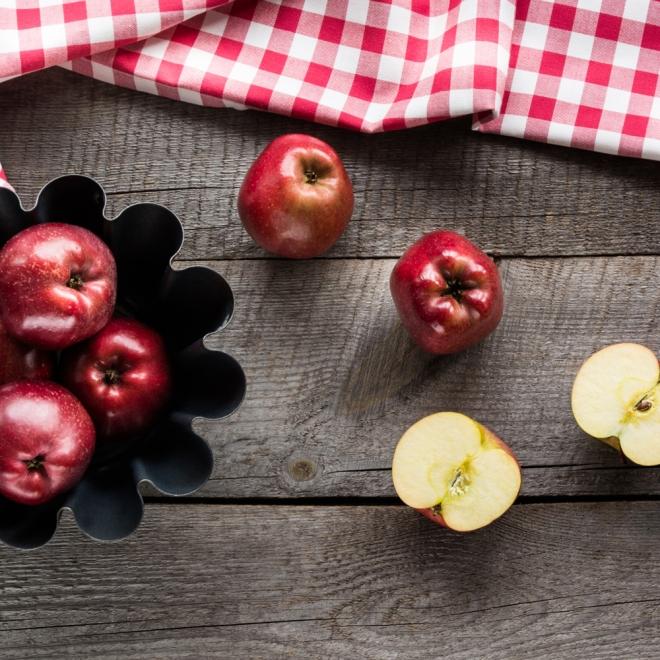 Alimentos con fibra: Manzanas