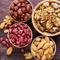 Alimentos con fibra: Nueces