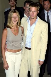 Jennifer Aniston y Brad Pitt, conjuntados hasta en sus looks