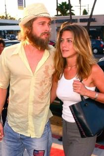 El estilo desenfadado de Jennifer Aniston y Brad Pitt