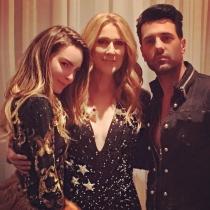 Belinda y Criss Angel con Celine Dion