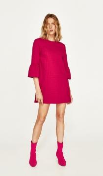 Vestidos de ZARA de invitada: un traje rosa divino