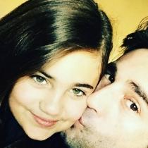 Daniela y su papá David Bustamante