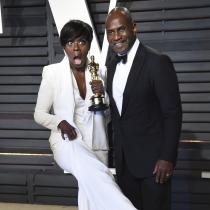 La alegría de Viola Davis junto a su marido