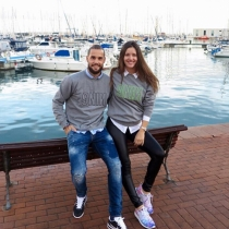 Malena Costa y Mario Suárez, felicidad completa