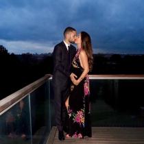 Malena Costa y Mario Suárez, confirmando su segundo embarazo
