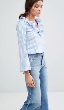 Camisas y blusas con estampados vichy