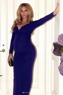 Beyoncé embarazada: un look ideal de noche