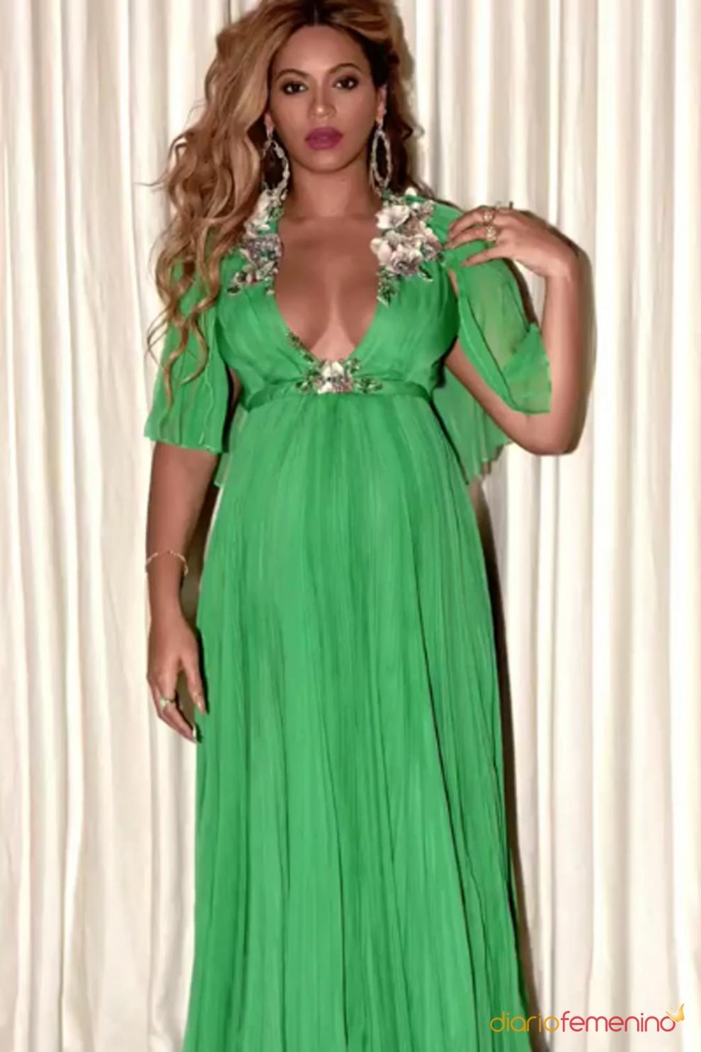 Beyoncé embarazada: vestidos largos para la dulce espera