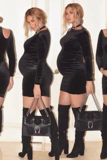 Beyoncé embarazada: minivestido sexy para lucir piernas