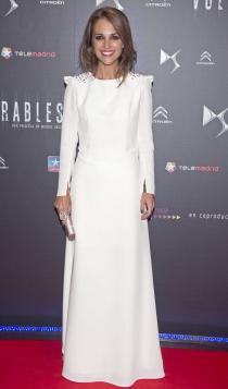 Vestidos para novias clásicas: Paula Echevarría, de blanco