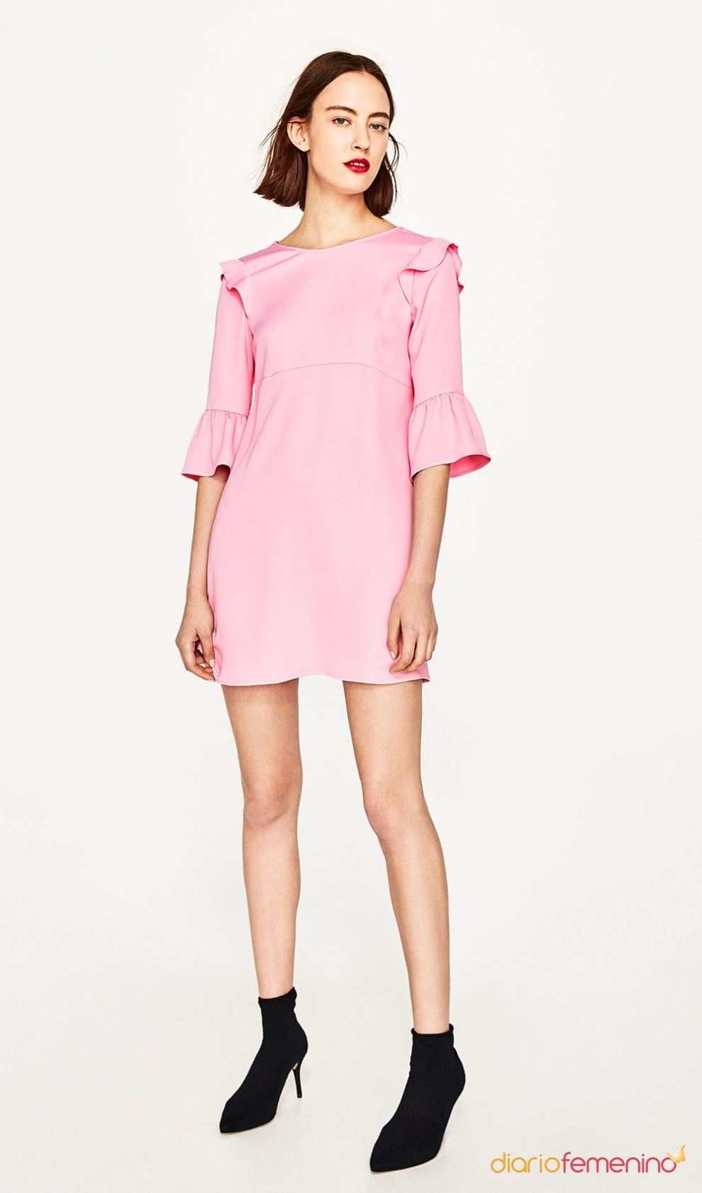 de comunión para mamás: un vestido rosa de ZARA