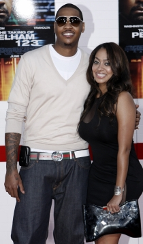 Carmelo Anthony y La La Anthony, en un evento
