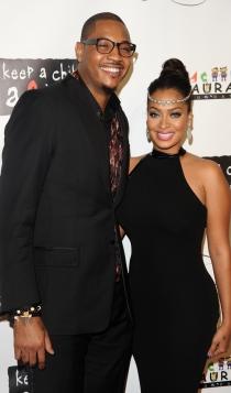 El glamour que desprendían La La y Carmelo Anthony