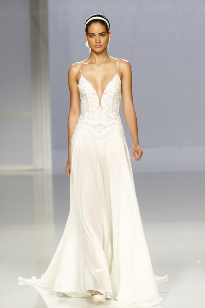 vestido de novia de rosa clará: estilo griego
