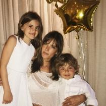 Alessandra, encantada con su familia