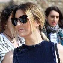 Peinados de Blanca Suárez: coleta baja muy lisa