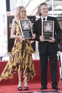 Paseo de la fama: Goldie Hawn y Kurt Russell