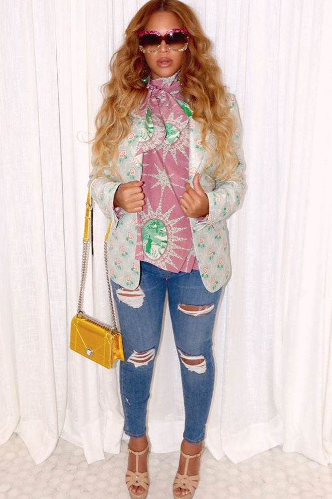 Beyoncé emabarazada: casual chic