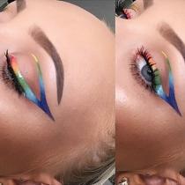 Eyeliner de fantasía: Arcoiris