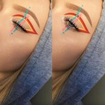 Eyeliner de fantasía: Vertical