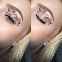 Eyeliner de fantasía: Floral
