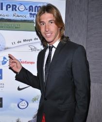 Sergio Ramos y su característica melena