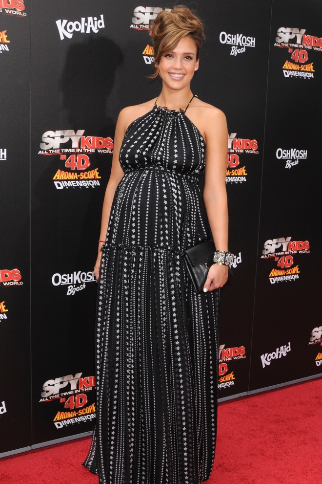 Jessica Alba, preparada para la alfombra roja