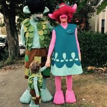Jessica Biel y Justin Timberlake, de trolls para Halloween