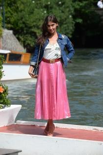La actriz Stella Egitto, en el Festival de Venecia 2017