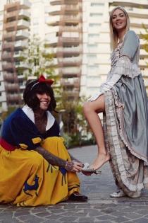Chiara Ferragni y su pareja Fedez, en Halloween