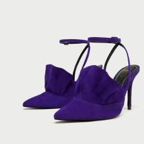 ZARA: Zapato de tacón con volante